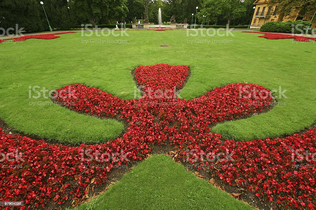 lawn design royalty-free stock photo