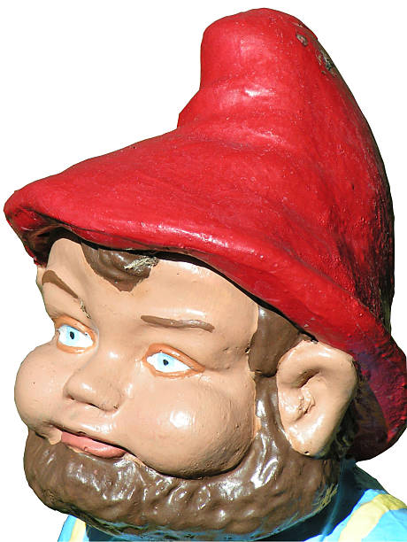 Lawn Gnome stock photo