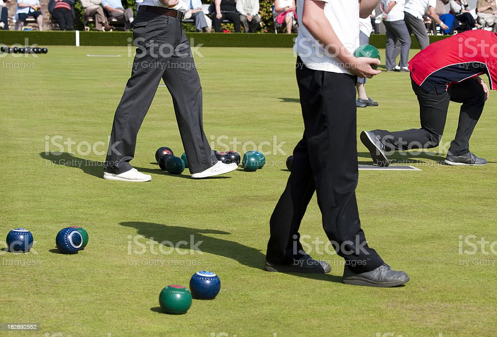 Lawn Green Bowling Competition stock photo
