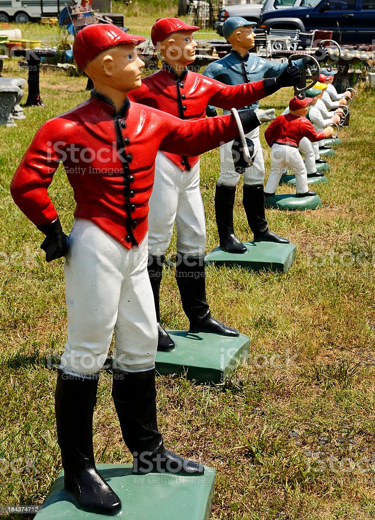 Lawn Jockey Statuettes stock photo
