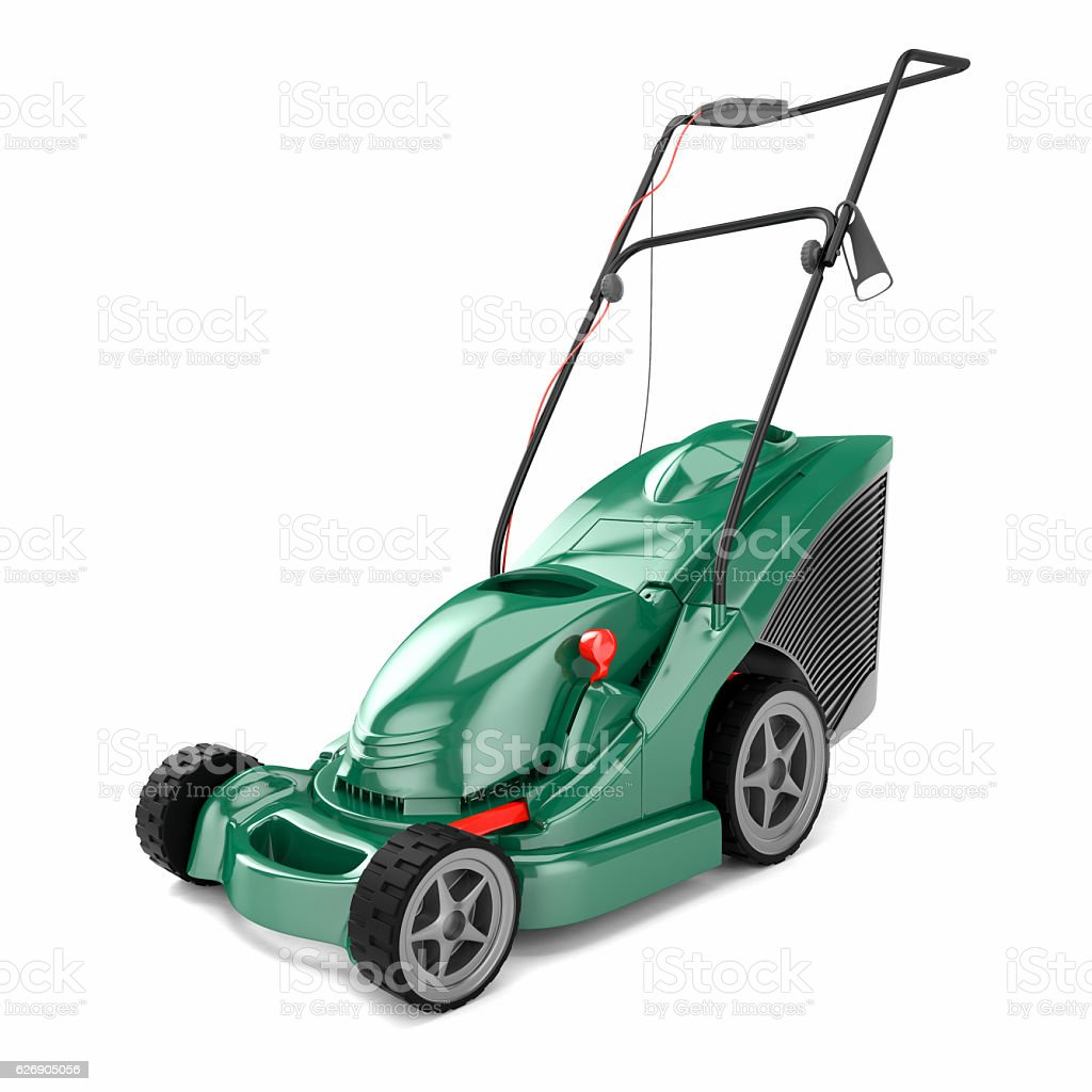 lawn mower 3d stock photo