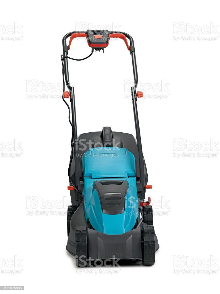 Lawn mower clipping path stock photo