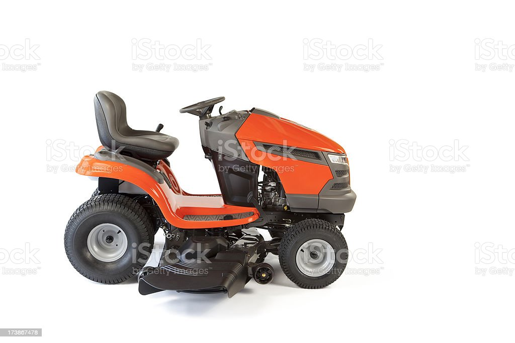 Lawn Mower Isolated stock photo