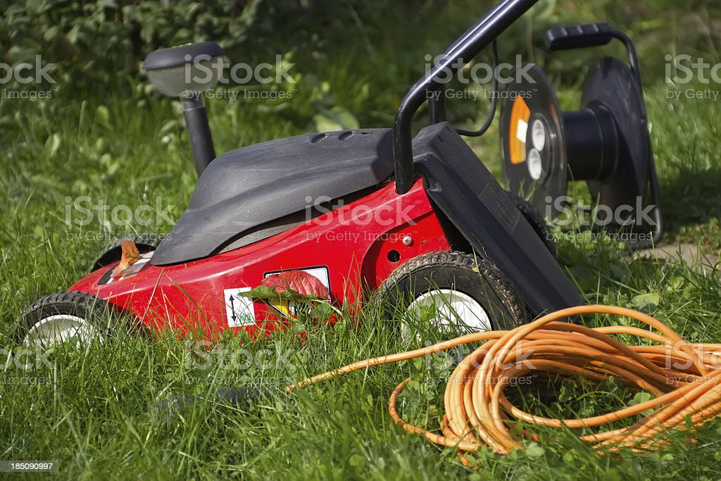 lawn mower royalty-free stock photo