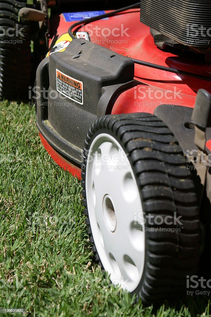 Lawn Mower Side View royalty-free stock photo