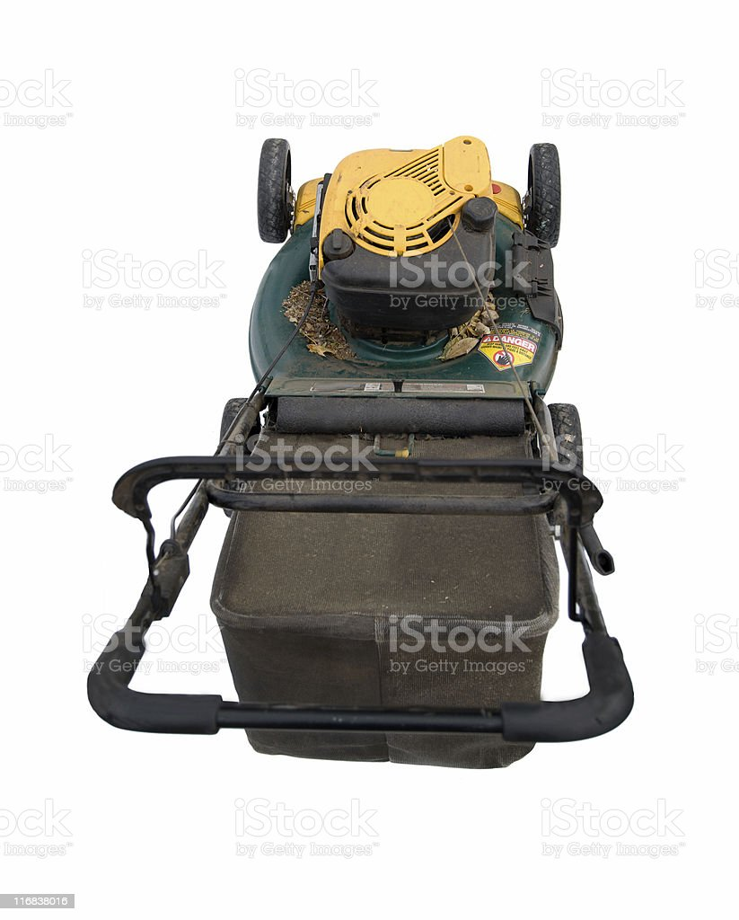 Lawn mower with clipping path - from above royalty-free stock photo