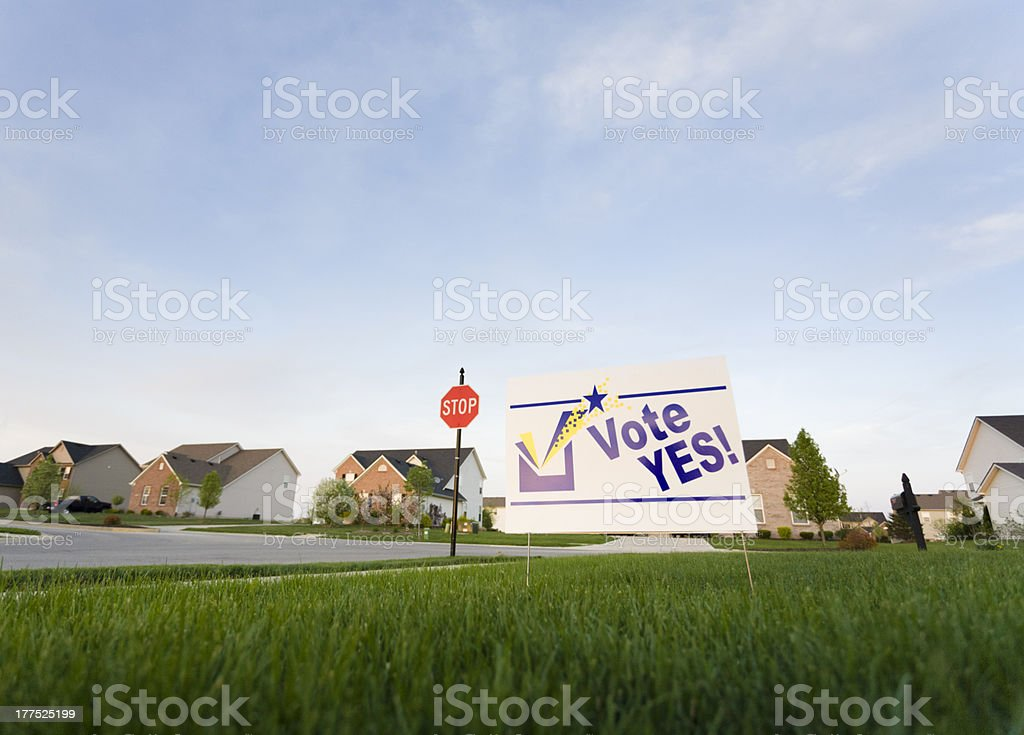 Lawn sign stock photo