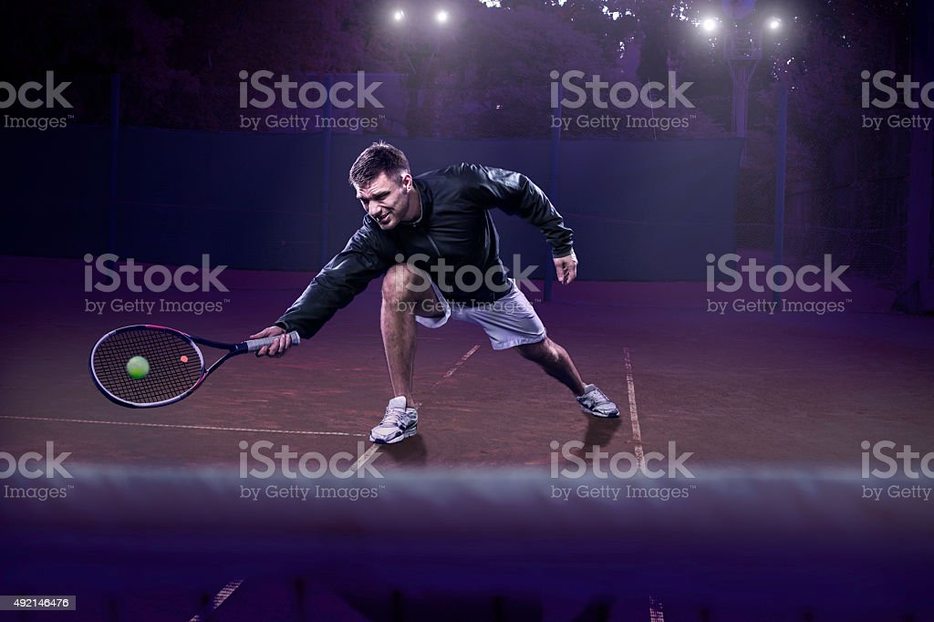 Lawn tennis action stock photo