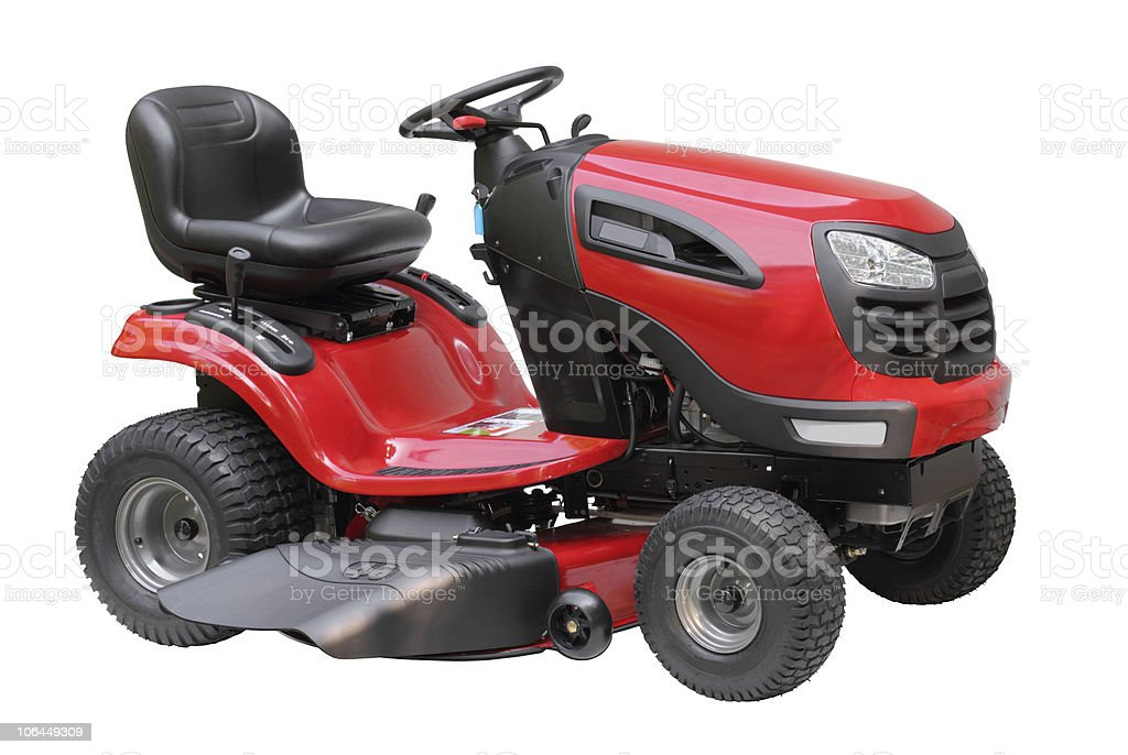 Lawn Tractor Isolated stock photo
