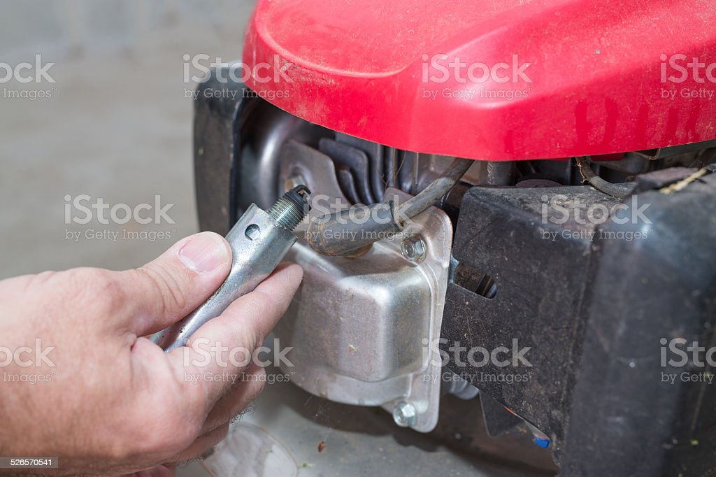 Lawnmower Service stock photo