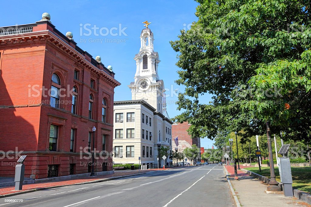 Lawrence Massachusetts City Hall stock photo