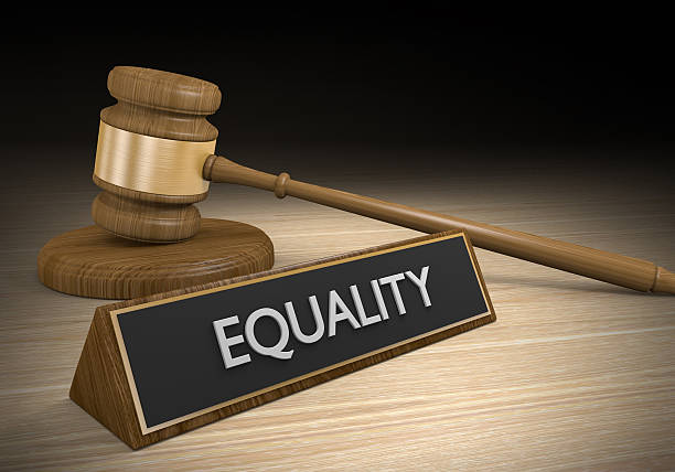 Laws for improving social and racial equality, 3D rendering stock photo