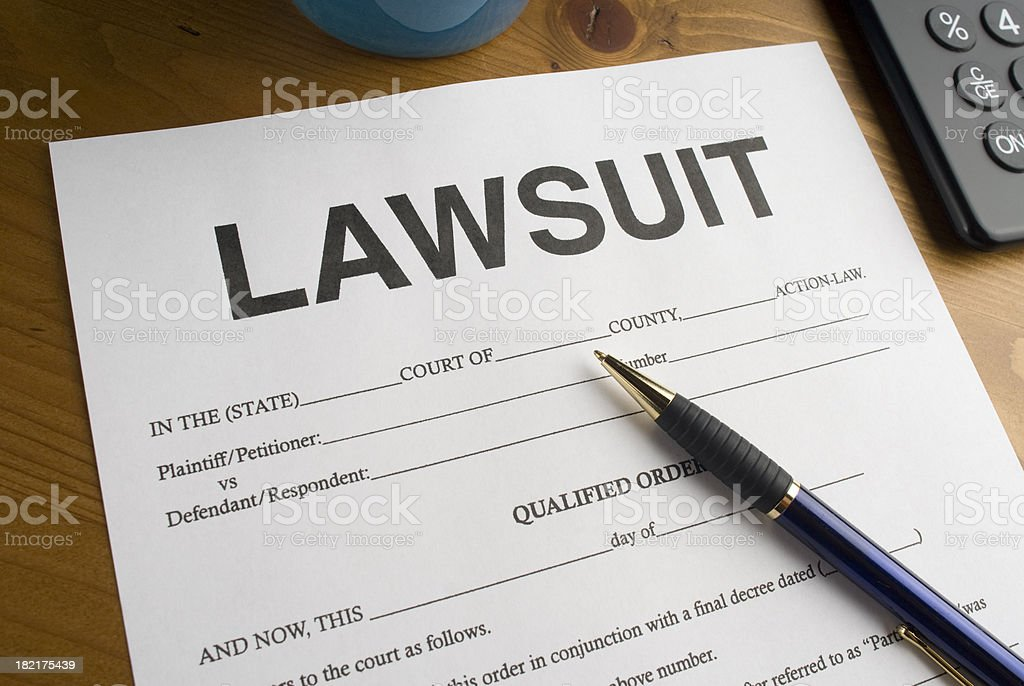 Lawsuit Court Form royalty-free stock photo