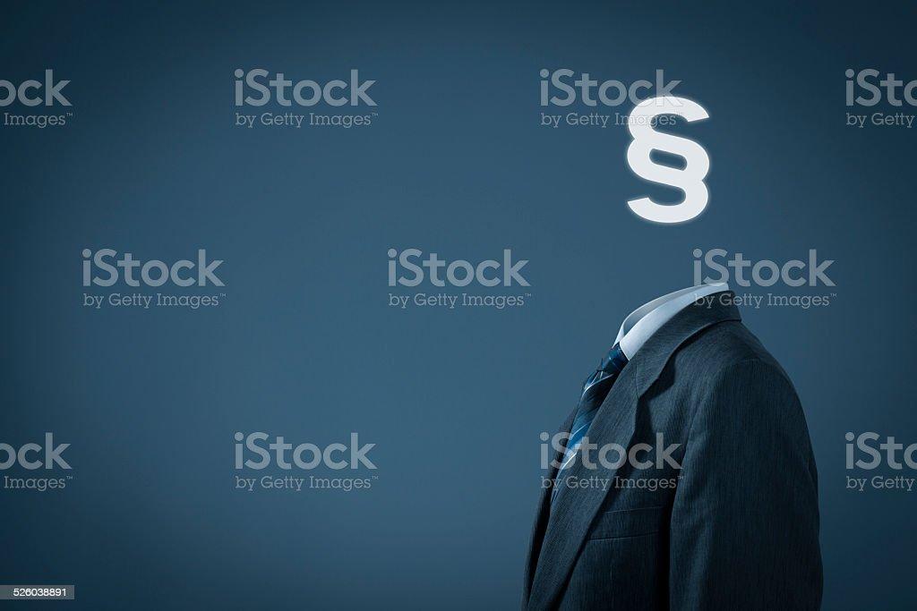 Lawyer advocate jurist stock photo