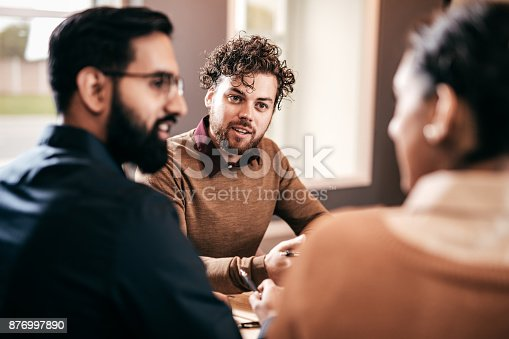 istock Lawyer and advice for couple 876997890