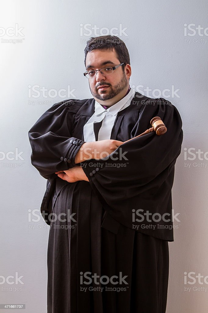 Lawyer and hammer royalty-free stock photo