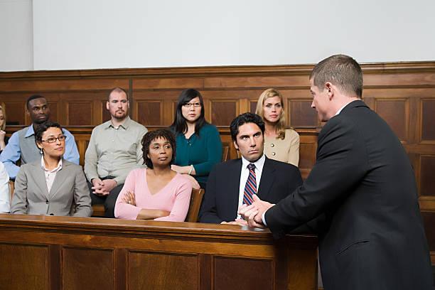 Ein Anwalt und der jury – Foto