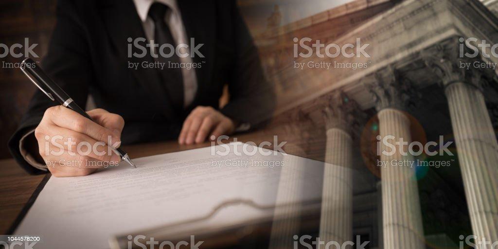 abogado abogado trabajo - foto de stock