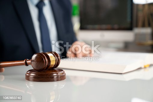 istock Lawyer background concept. 1082853740