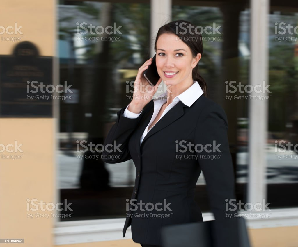 Lawyer Businesswoman with Mobile Phone royalty-free stock photo