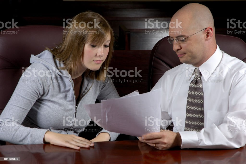 Lawyer & Client stock photo
