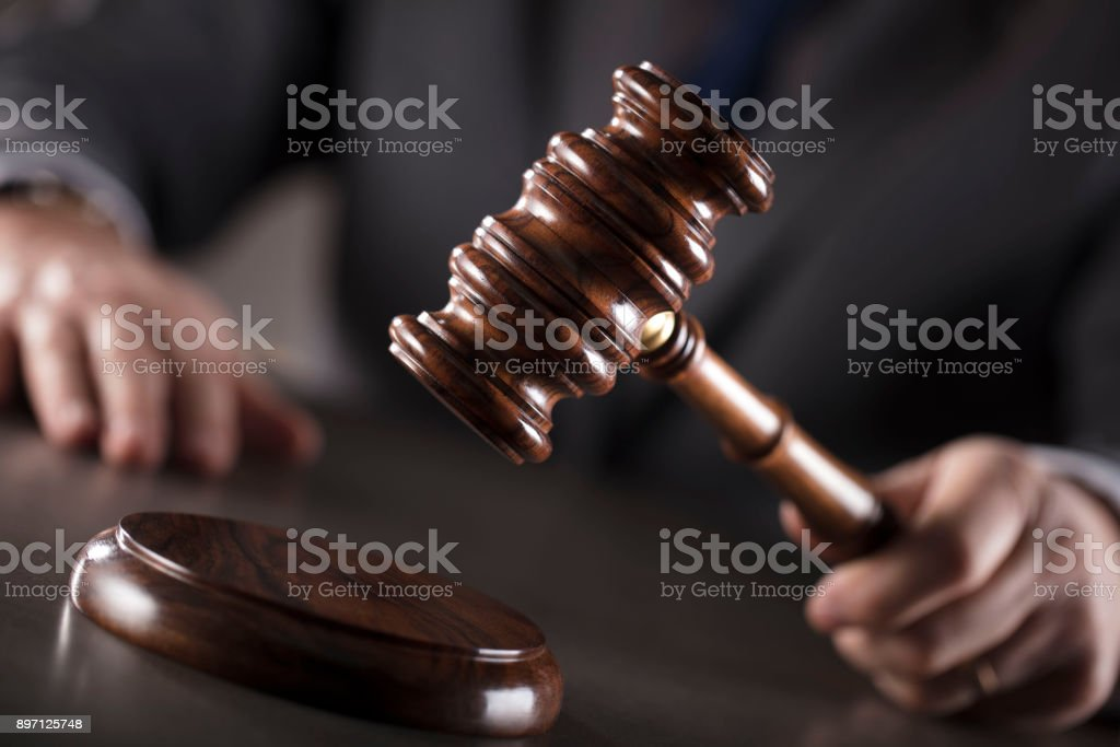 Lawyer concept. Attorney at law. stock photo