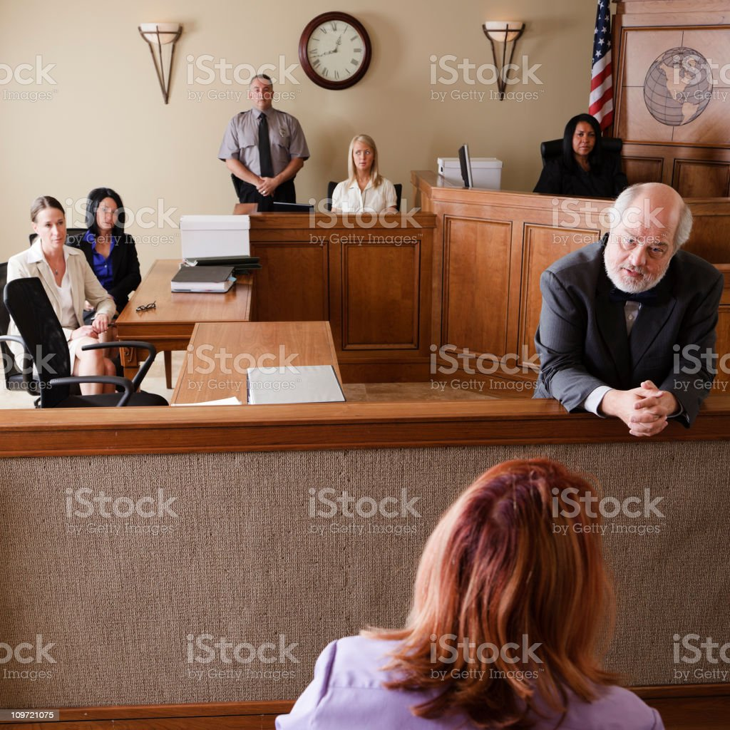 Lawyer in Court royalty-free stock photo