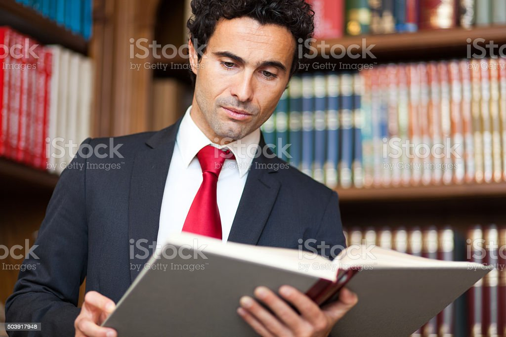 Lawyer in his studio stock photo