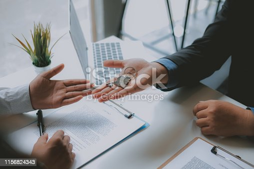 1045876492istockphoto lawyer insurance broker consulting giving legal advice to couple customer about buying renting house. financial advisor with mortgage loan investment contract. realtor selling real estate 1156824343