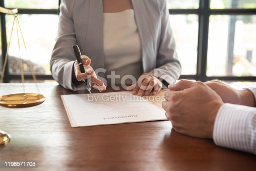 1157633068 istock photo Lawyer Legal advice 1198571705