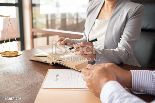 1157633068 istock photo Lawyer Legal advice 1198571707