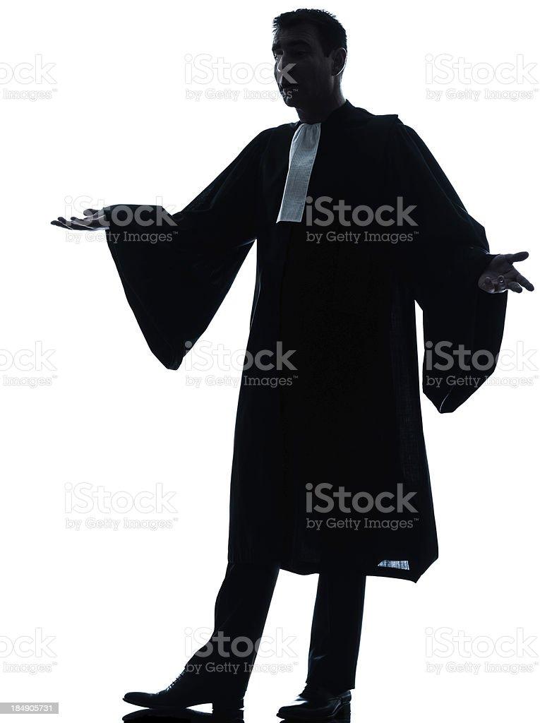 lawyer man pleading silhouette royalty-free stock photo