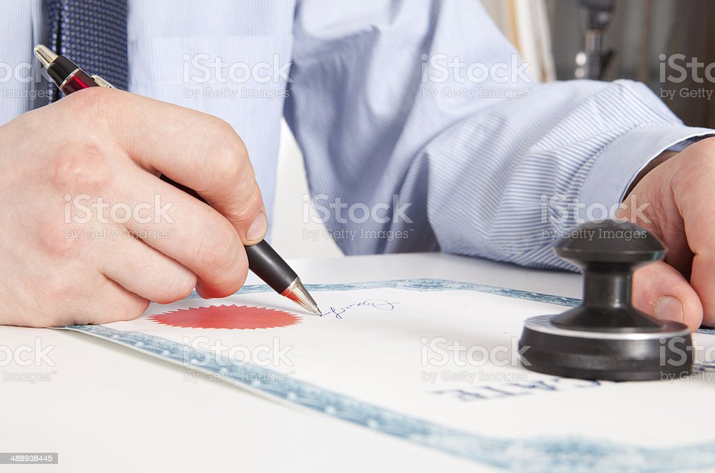Lawyer, notary stock photo