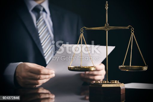 istock Lawyer or attorney works in his office 924372846