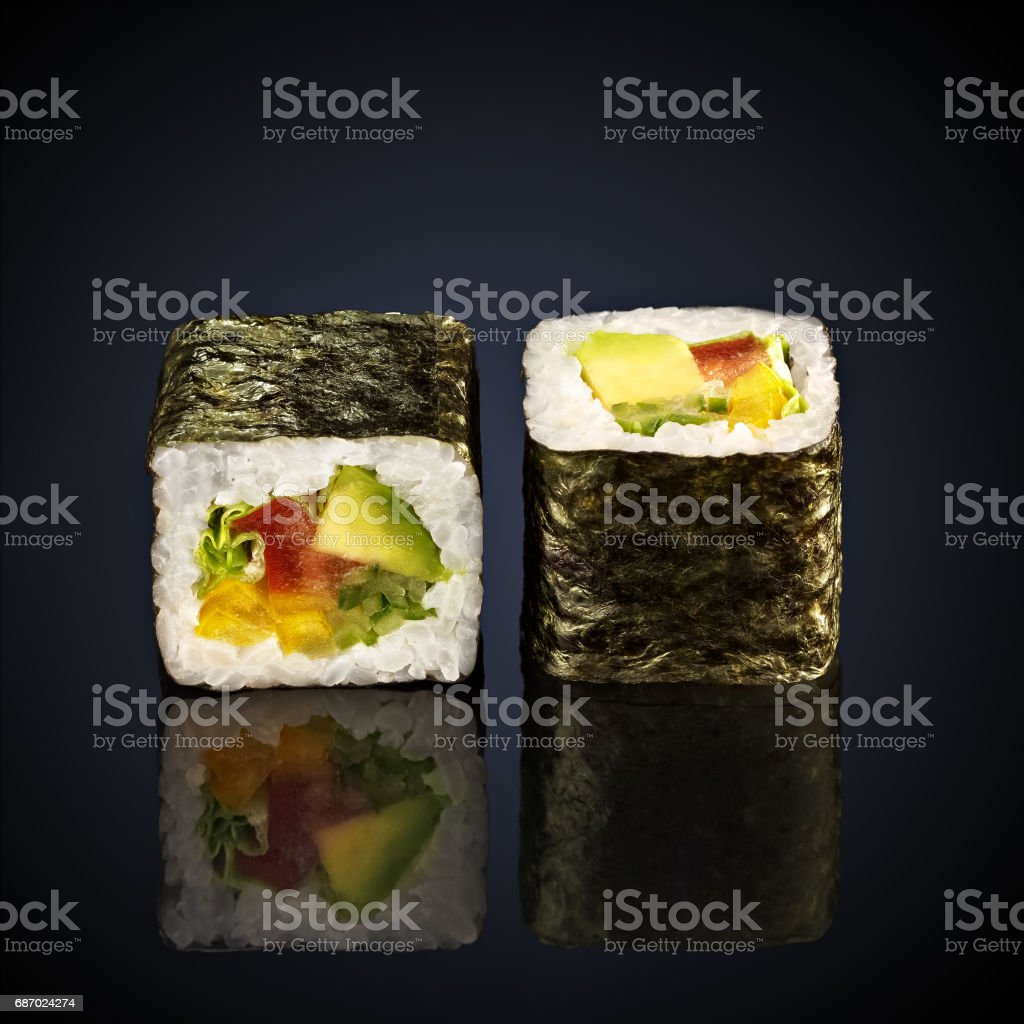 abogado roru rolls with avocado stock photo