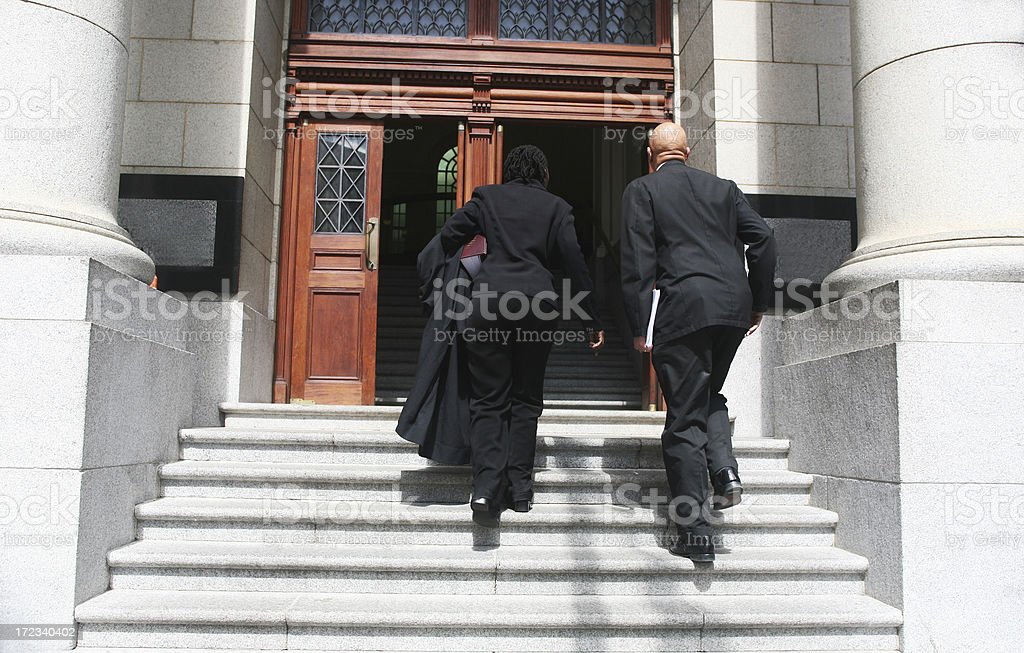 Lawyers at court royalty-free stock photo