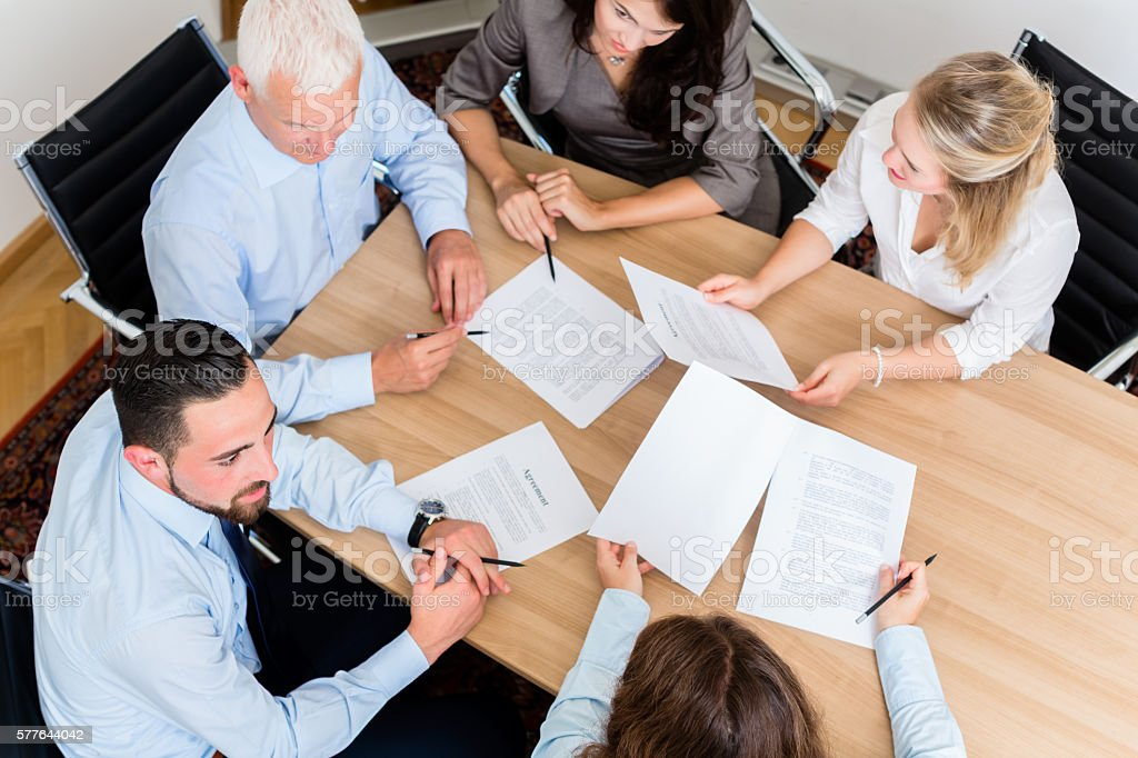 Lawyers having team meeting in law firm – Foto