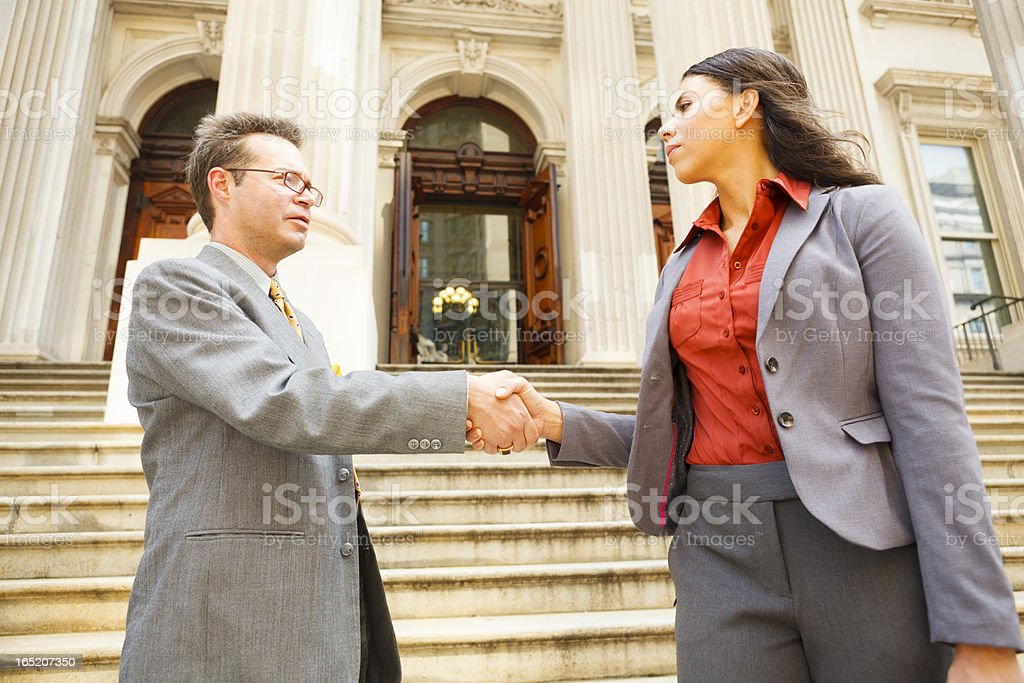 Lawyers Shaking Hands stock photo