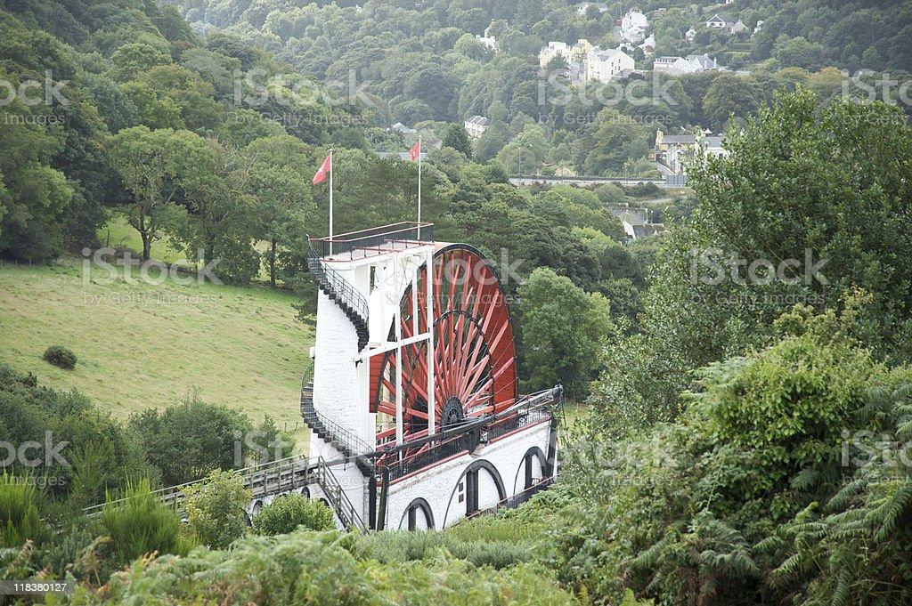 Laxey waterwheel royalty-free stock photo