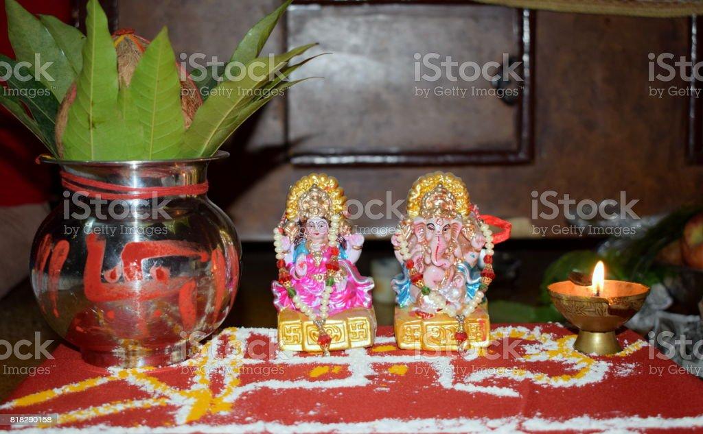 Laxmi Ganesh Ji Hindu Deity Worship Stock Photo Download Image Now Istock