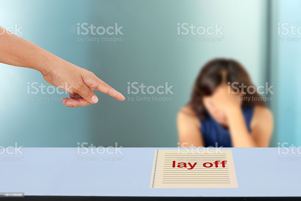 lay off stock photo