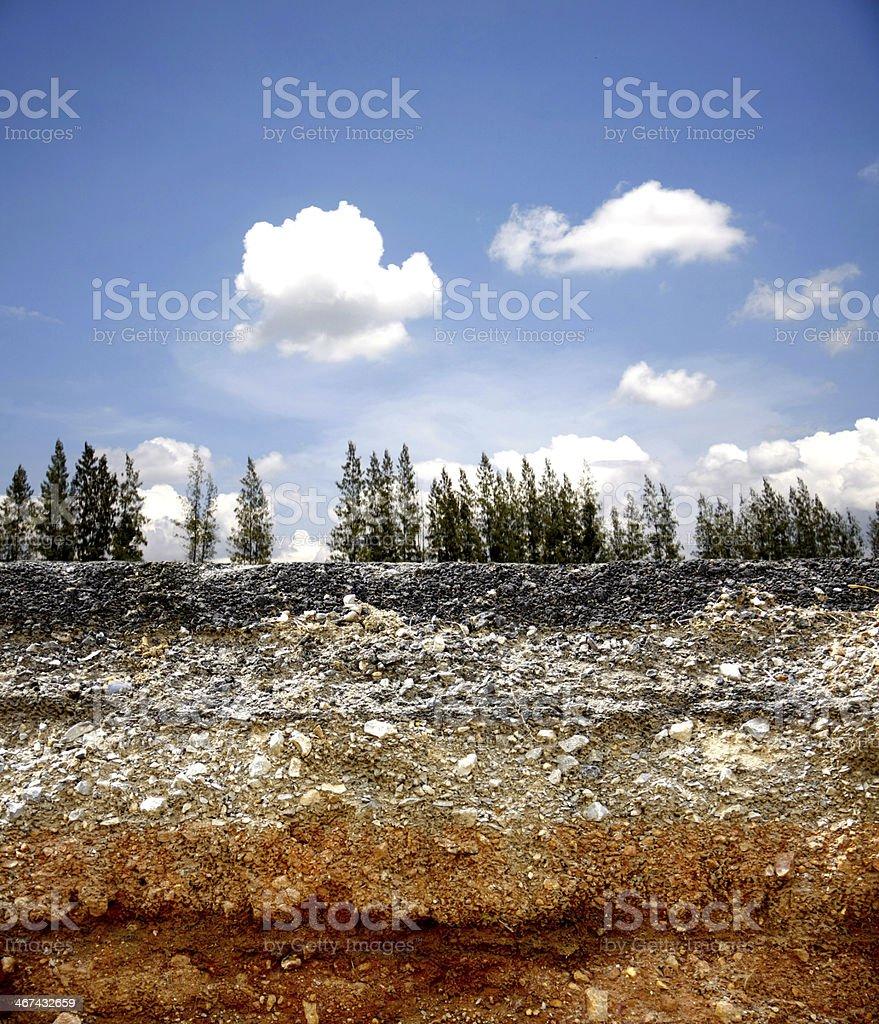 Layer of asphalt road stock photo