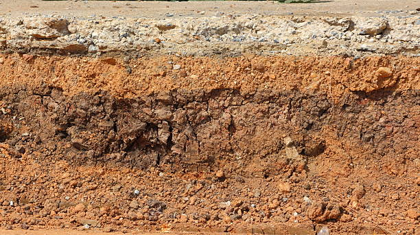 layer soil stock photo