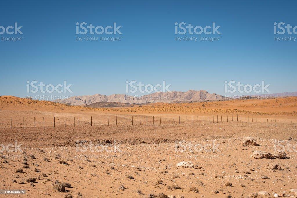 layered arid landscape of desert in Namibia
