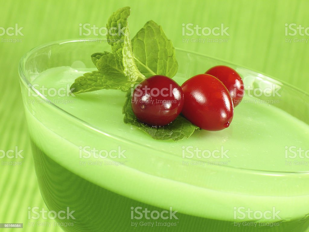 Layered Lime Gelatin royalty-free stock photo