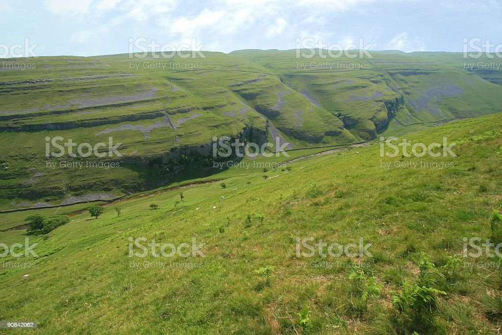 Layered Limestone stock photo