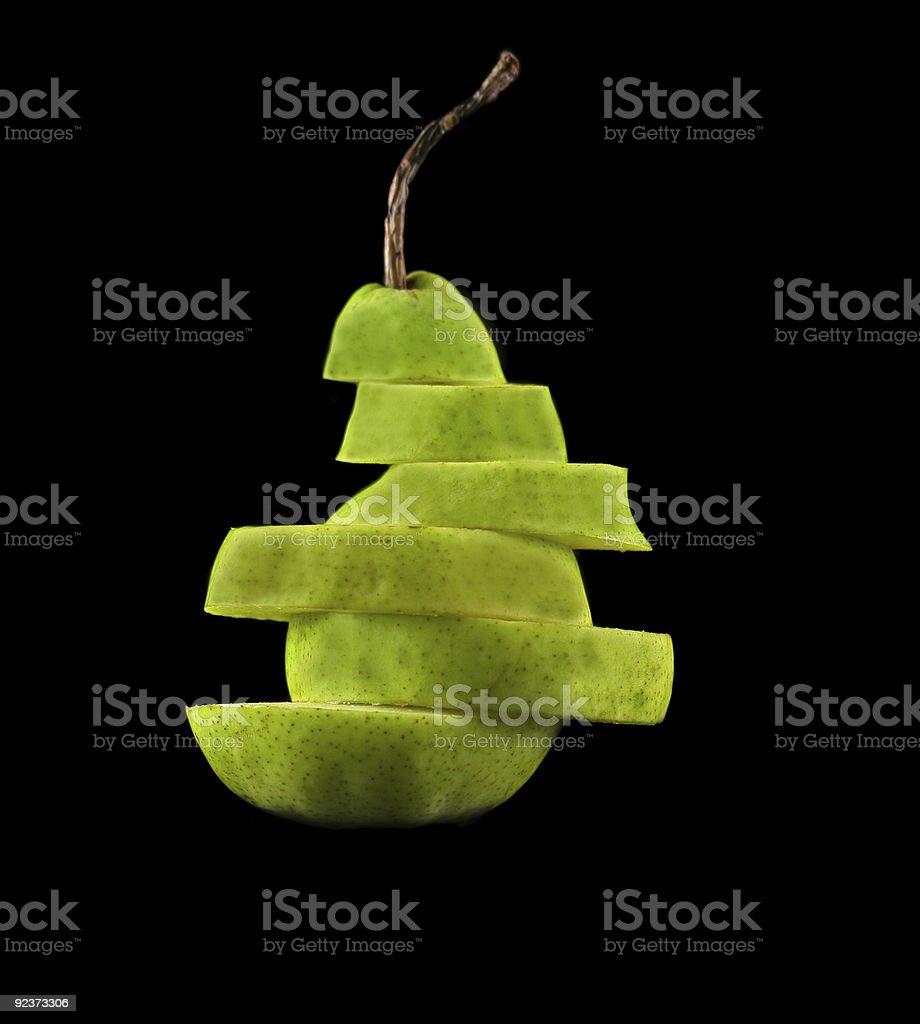 Layered Pear royalty-free stock photo
