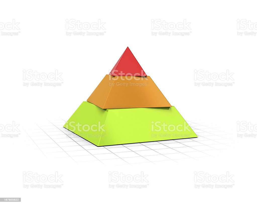 Layered Pyramid Three Levels stock photo