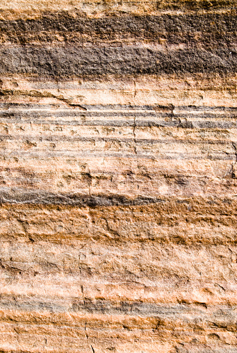 A cliff face showing rock strata.