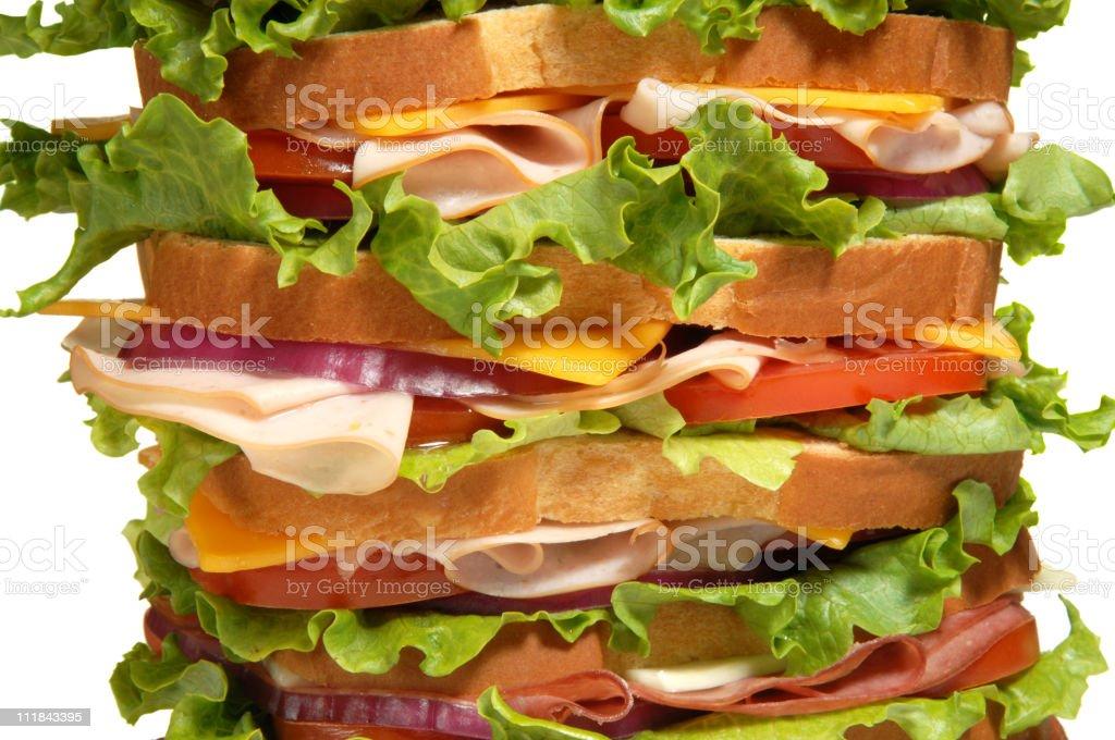 Layered Sandwich on White royalty-free stock photo